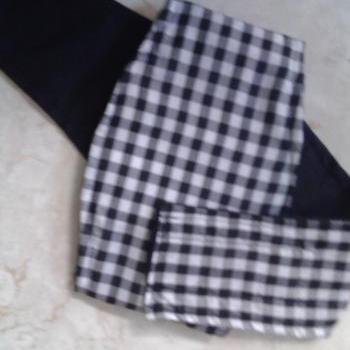 Black and White Checks Belly Band for Male Dogs
